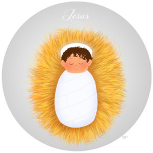 calendrier de l'avent illustré mignon noël bûche de noël christmas cadeaux amour jésus mignon crèche nativité