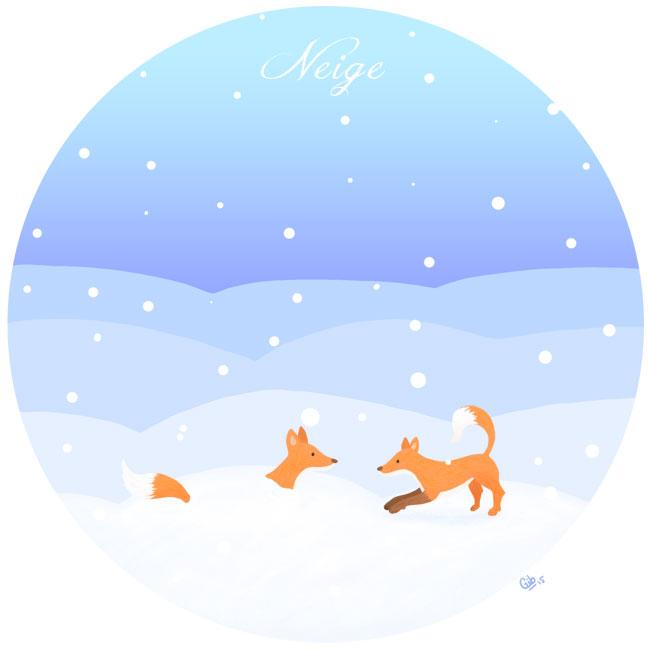calendrier de l'avent illustré mignon noël bûche de noël christmas cadeaux amour