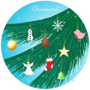 calendrier de l'avent illustré mignon noël bûche de noël christmas cadeaux amour ornements
