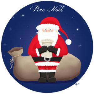 calendrier de l'avent illustré mignon noël bûche de noël christmas cadeaux amour santa père noel