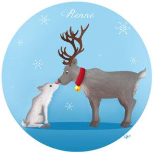 calendrier de l'avent illustré mignon noël bûche de noël christmas cadeaux amour renne noel rudolph