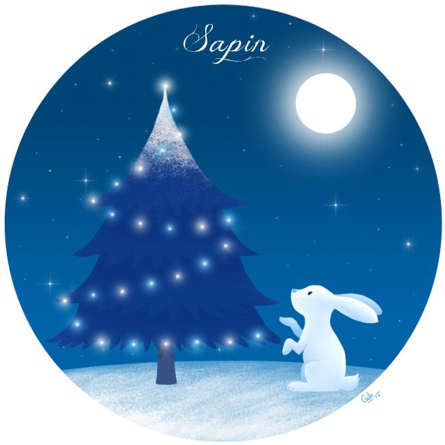 calendrier de l'avent illustré mignon noël bûche de noël christmas cadeaux amour sapin