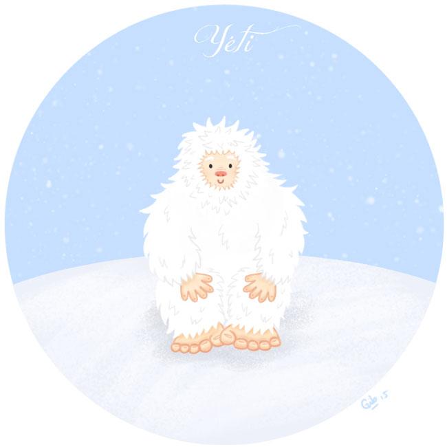 calendrier de l'avent illustré mignon noël bûche de noël christmas cadeaux amour yéti big foot