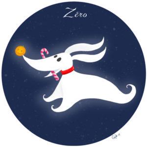 calendrier de l'avent illustré mignon noël bûche de noël christmas cadeaux amour zéro zero dog chien l'étrange noel de mr jack the nightmare before christmas