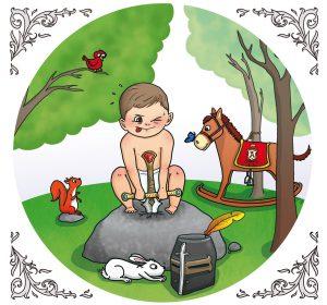 bébé faire part naissance mignon illustration commande personnalisée