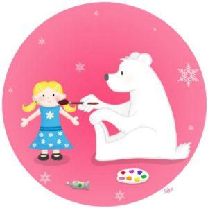 sine du père noël santa's helper polar bear ours