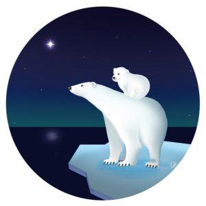 étoile du berger ours blanc ours polaire banquise mignon étoile