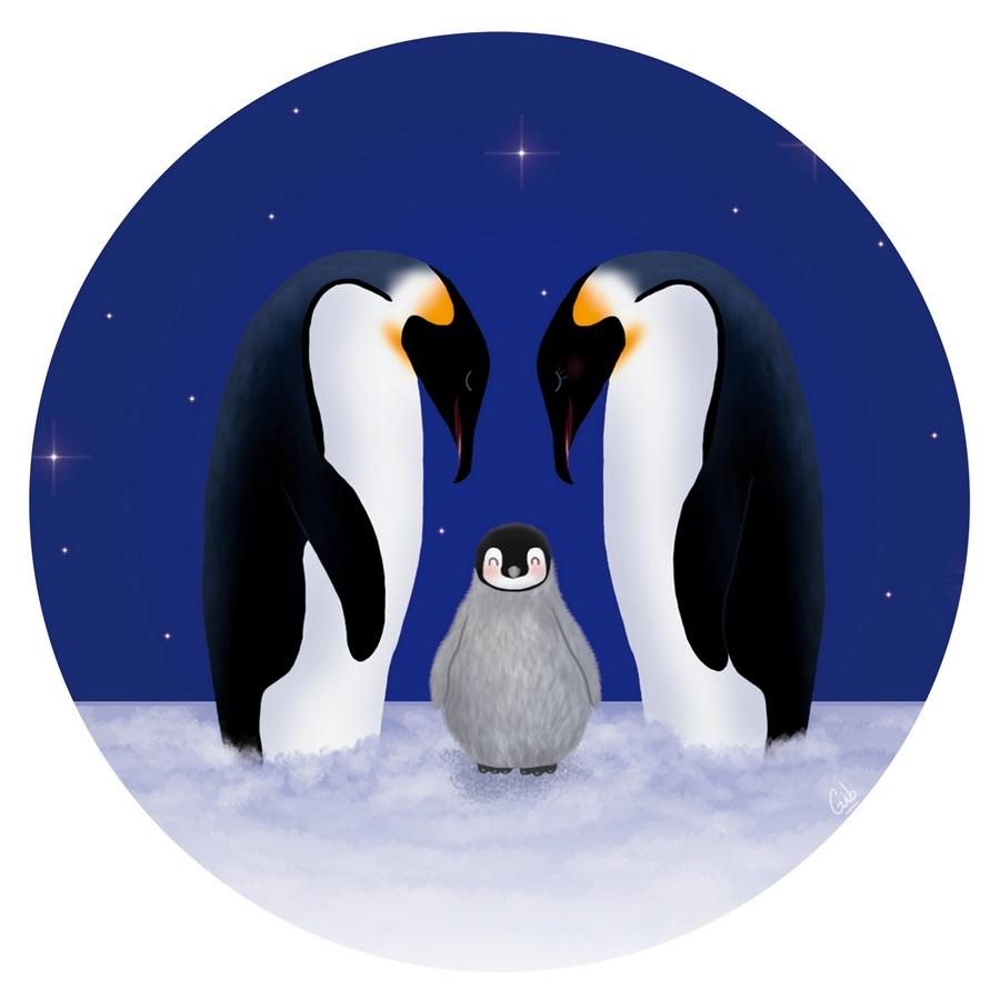 penguins pingouins manchots empereurs mignon cute noël christmas