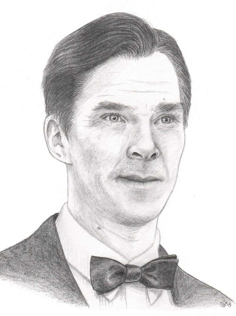 Portrait Benedict Cumberbatch crayon Sherlock