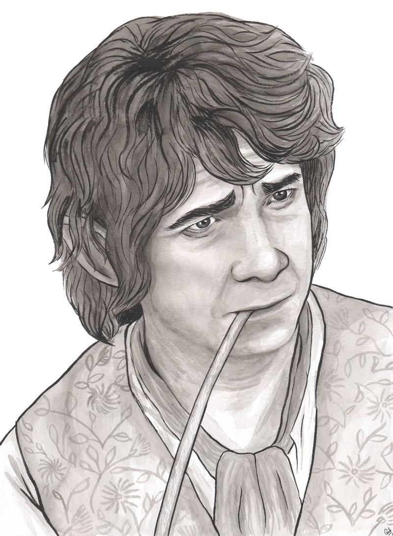 Bilbo Baggins, Bilbon Sacquet, le Hobbit, portrait