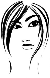 visage encre de chine illustration