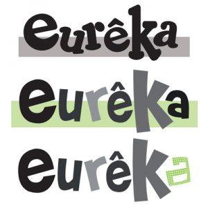 conception graphique création logo design têtière graphisme logo magazine enfance jeunesse découverte eurêka