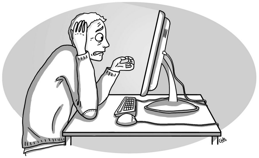 bande dessinée personnage dépannage informatique détresse