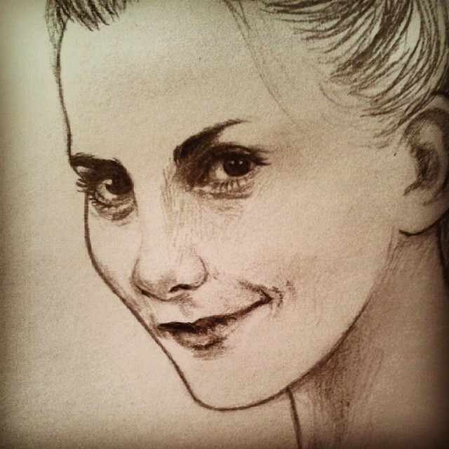 Louise brealey molly hopper sherlock portrait crayon