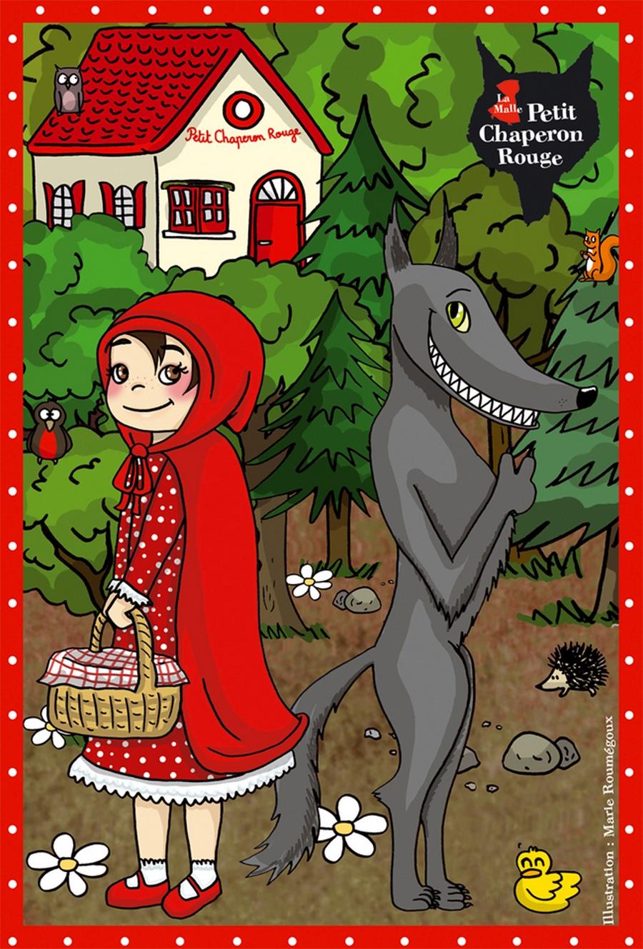 petit chaperon rouge malle pédagogique illustration puzzle