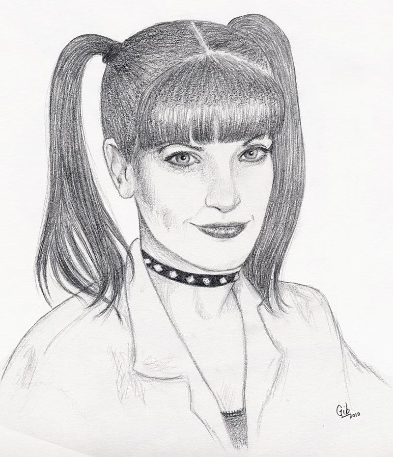 Abby Sciutto, Pauley Perrette, portrait, crayon, NCIS