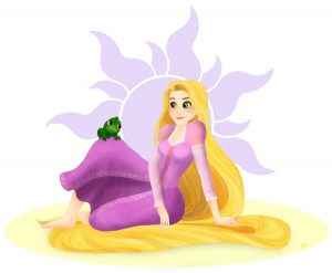 Raiponce rapunzel tangled disney fanart illustration