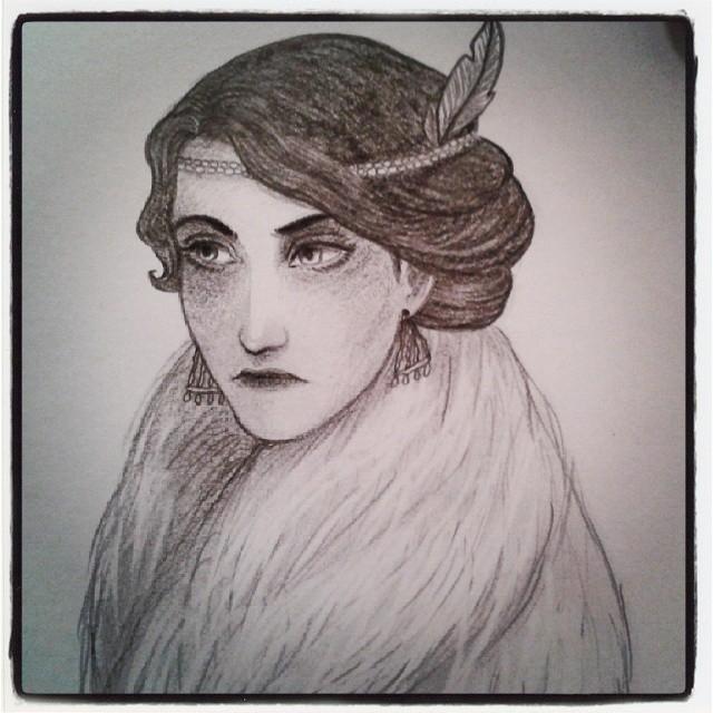 années folles années 20 art déco dessin crayon croquis