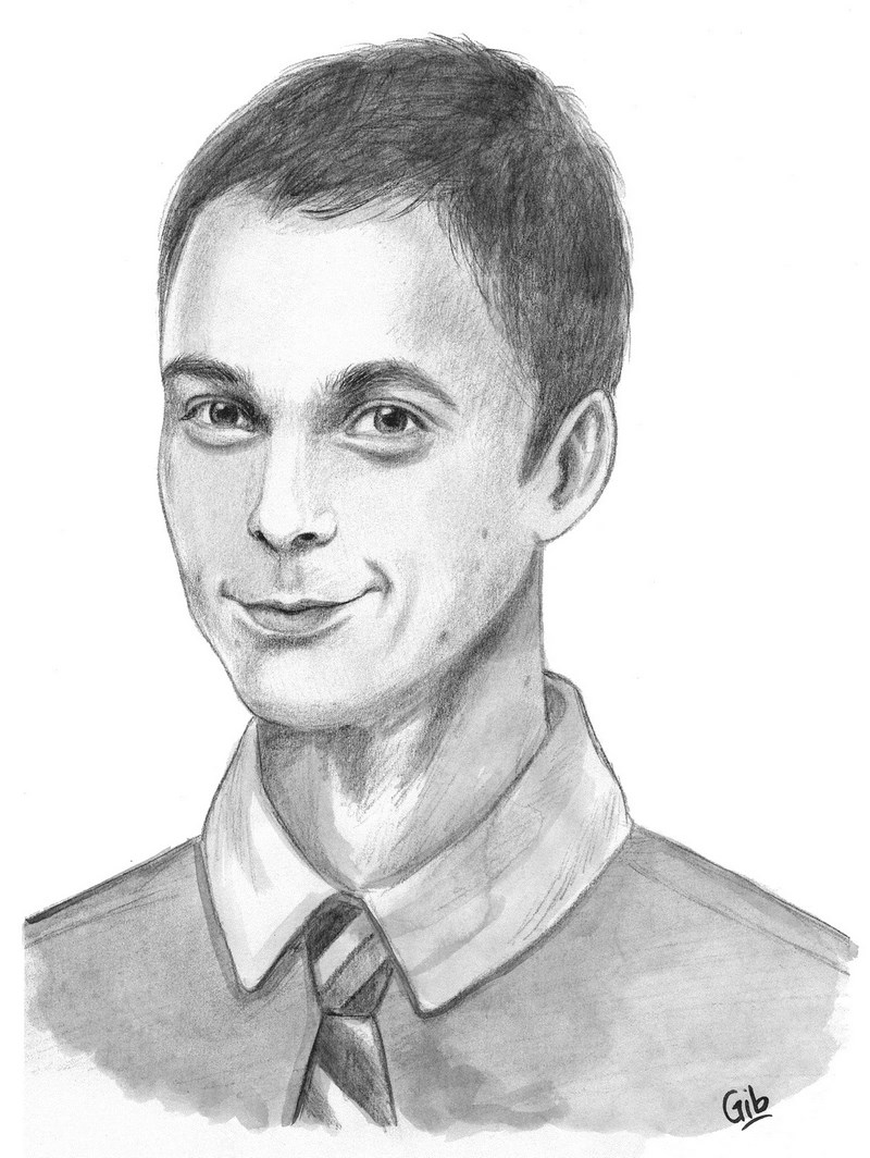 Sheldon Cooper, Jim Parsons, the big bang theory, portrait