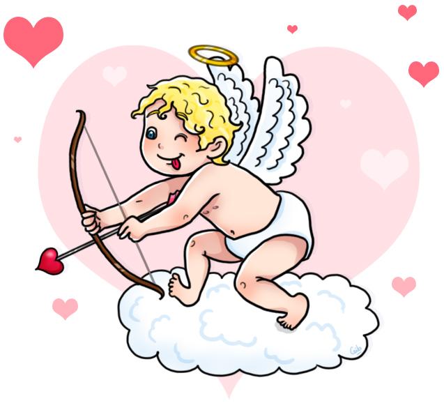 bande dessinée personnage mignon cupidon saint valentin coeur amour love