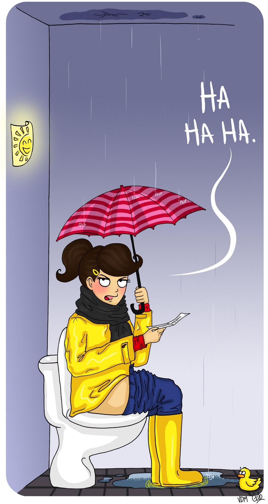 bande dessinée personnage vie de merde vdm illustrée toilettes