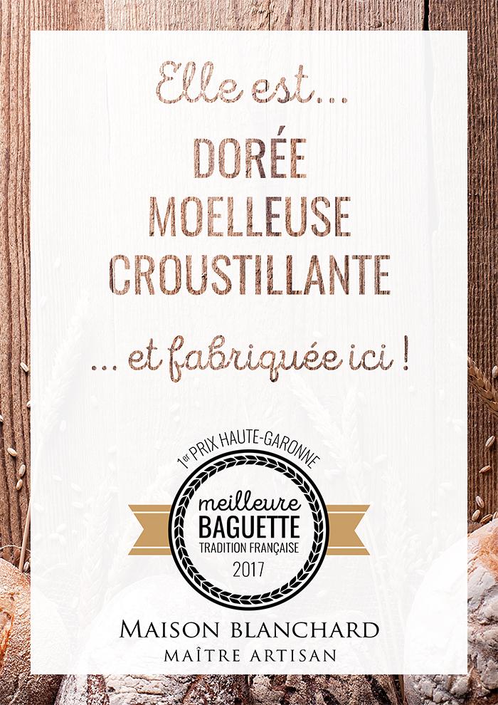 affiche promotionnelle print baguette tradition française