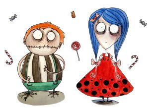 children tim burton fanart oyster boy tragic toys