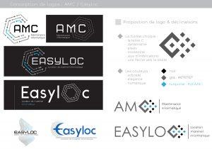 conception graphique création logo design graphisme logo amc easyloc informatique