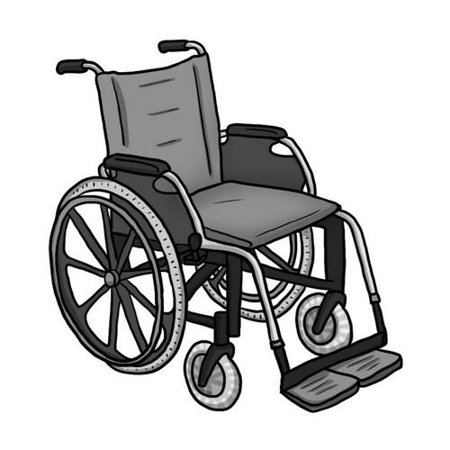 Illustration aide au langage document orthophonie logopédie fauteuil roulant handicap