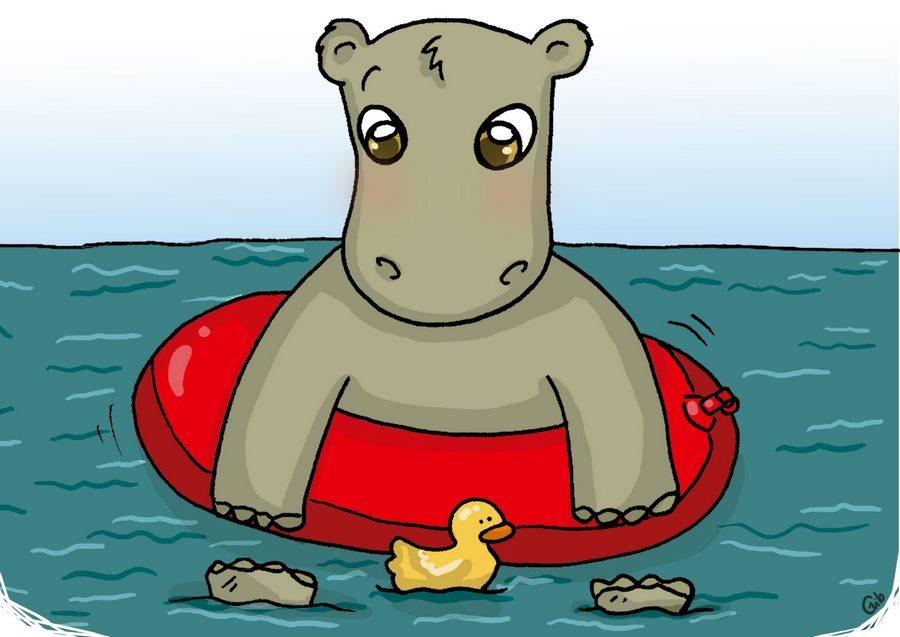hippopotame mignon hippopotamus cute