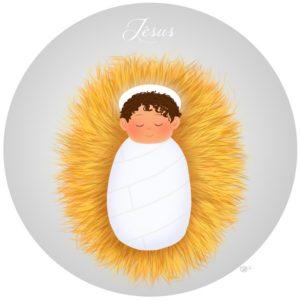 jésus crèche noël christmas cute baby bébé mignon