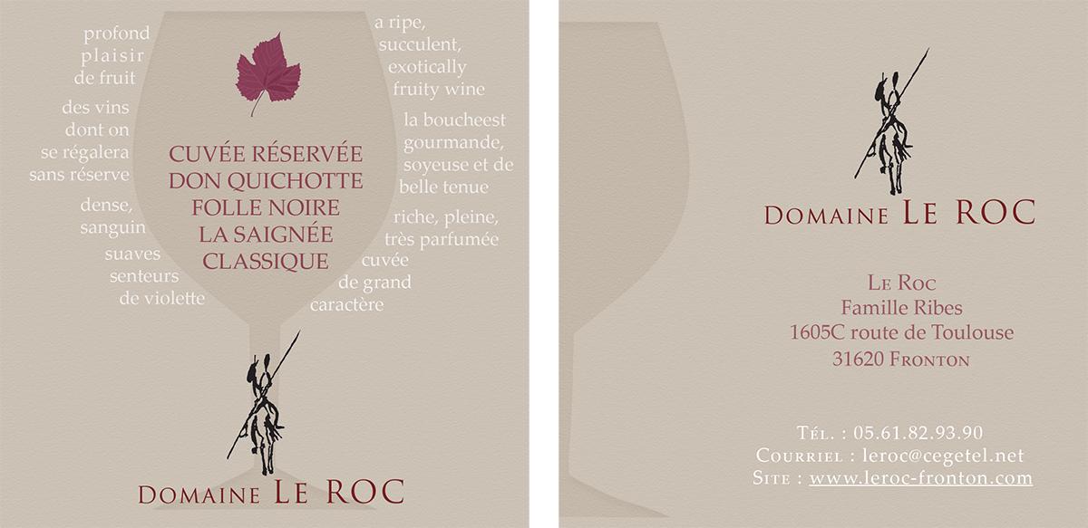 flyer promotionnel vin élégant élégance chic oenologie domaine le roc