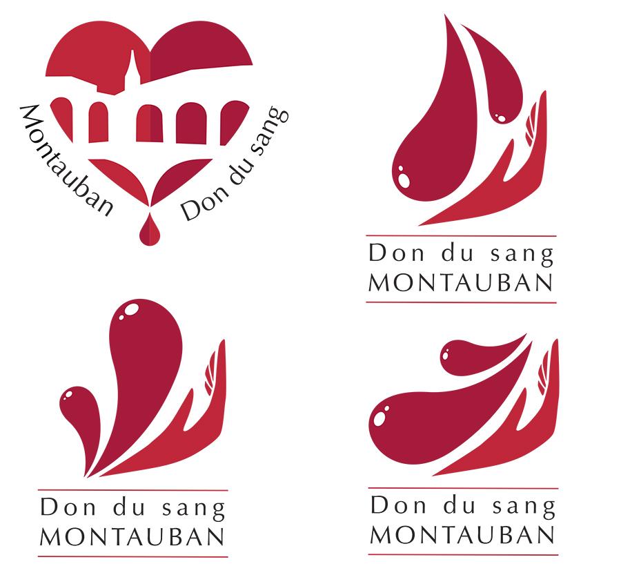 conception graphique création logo design graphisme logo don du sang