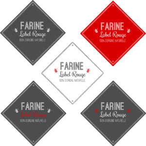 conception graphique création logo design graphisme logo label rouge qualité farine