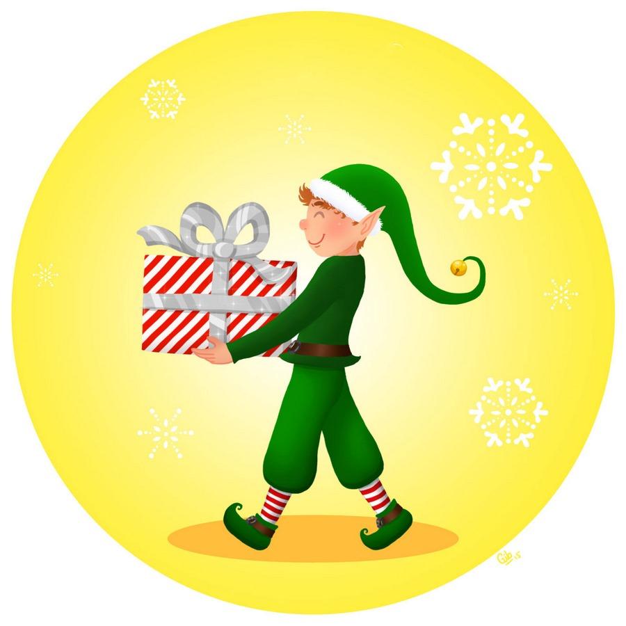 lutin du père noël santa's helper mignon cadeau cute christmas