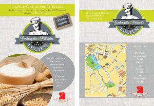 flyer boulangerie chez lucien print mise en page conception graphique graphisme