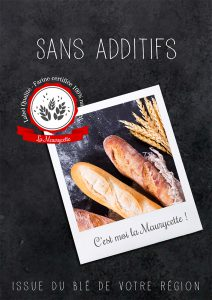 affiche pain baguette tradition rustique bio print