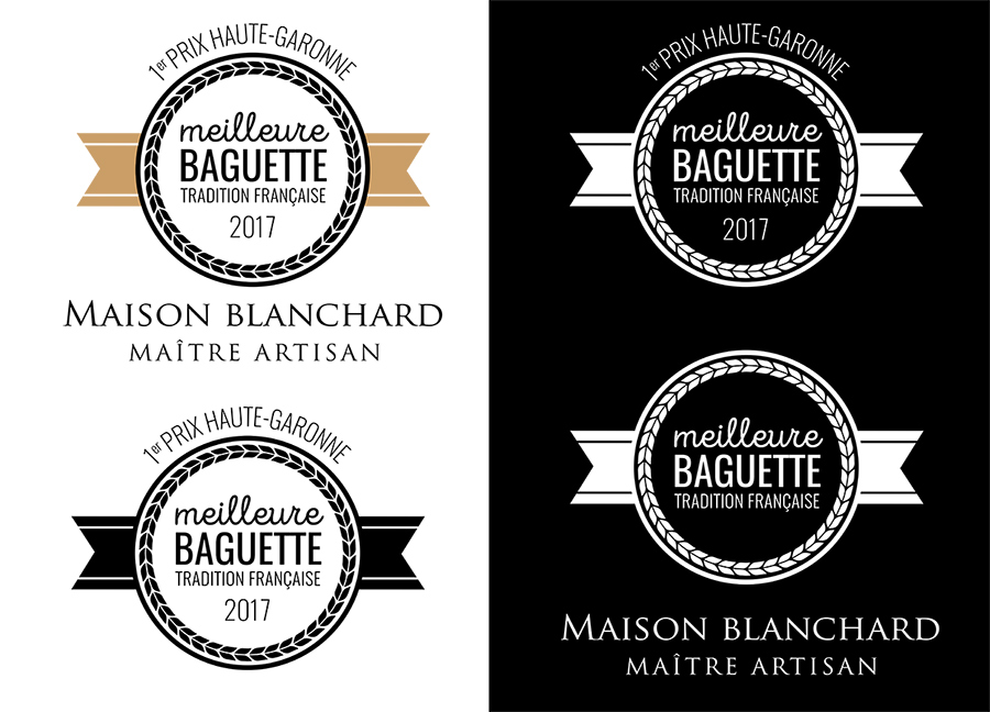 conception graphique création logo design graphisme logo meilleure baguette tradition française