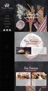maquette mockup site moulin farine boulanger