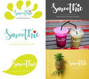 conception graphique création logo design graphisme logo smoothie