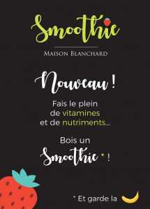 stop trottoir smoothie affiche cute mignon publicitaire
