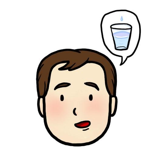 Illustration aide au langage document orthophonie logopédie j'ai soif boire eau verre d'eau