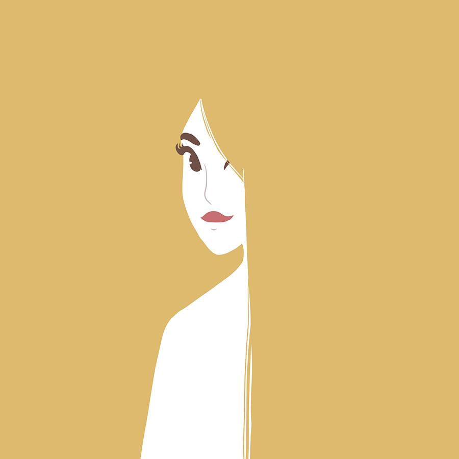 blonde illustration graphisme marie roumégoux