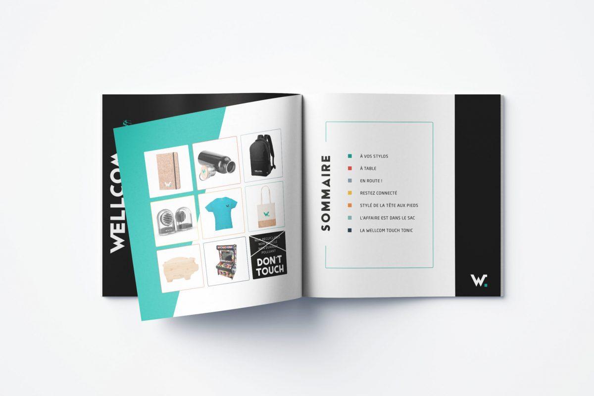 wellcom identité visuelle création graphique