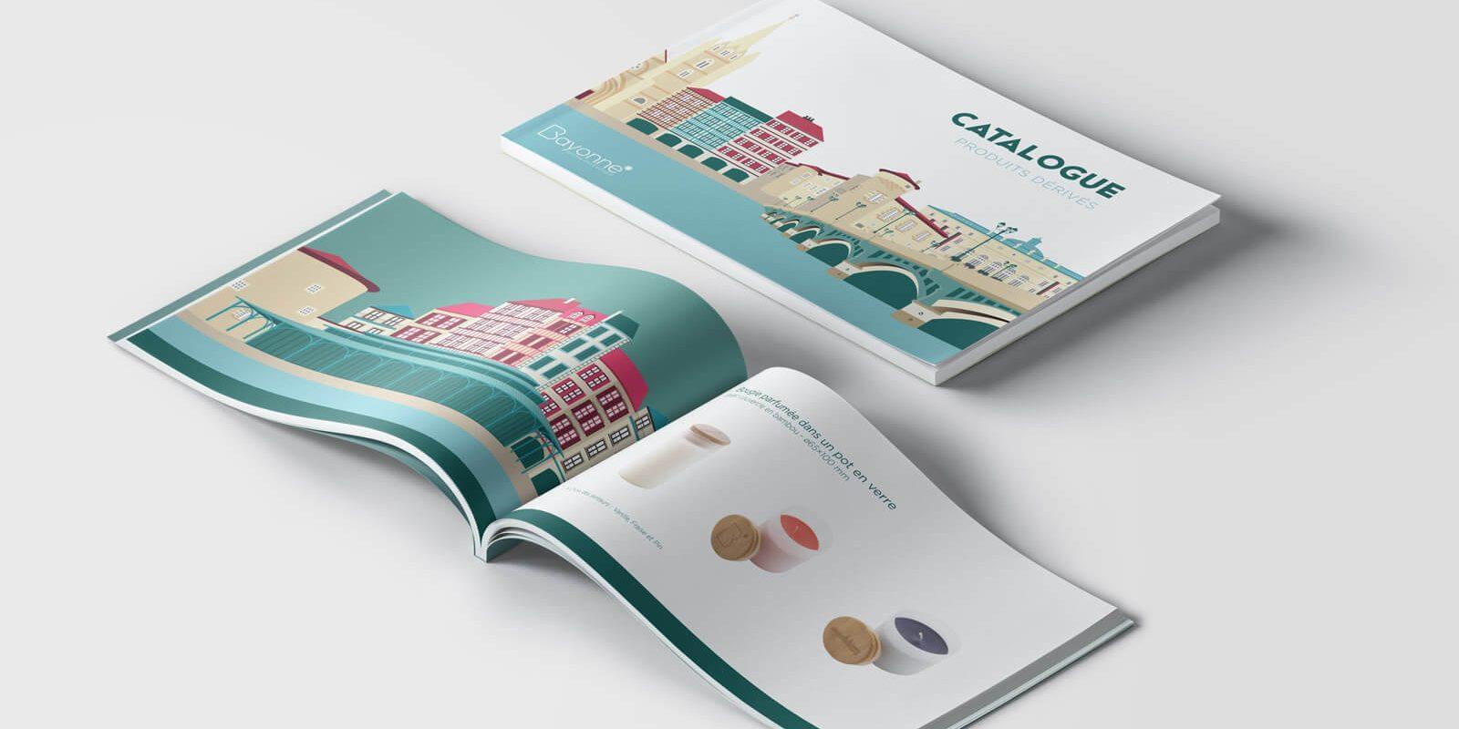 Catalogue illustration packaging objets dérivés toulouse bayonne