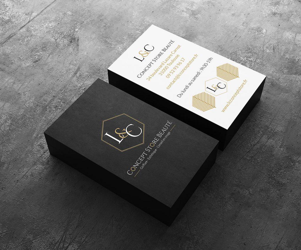 LC Concept store cartes de visites