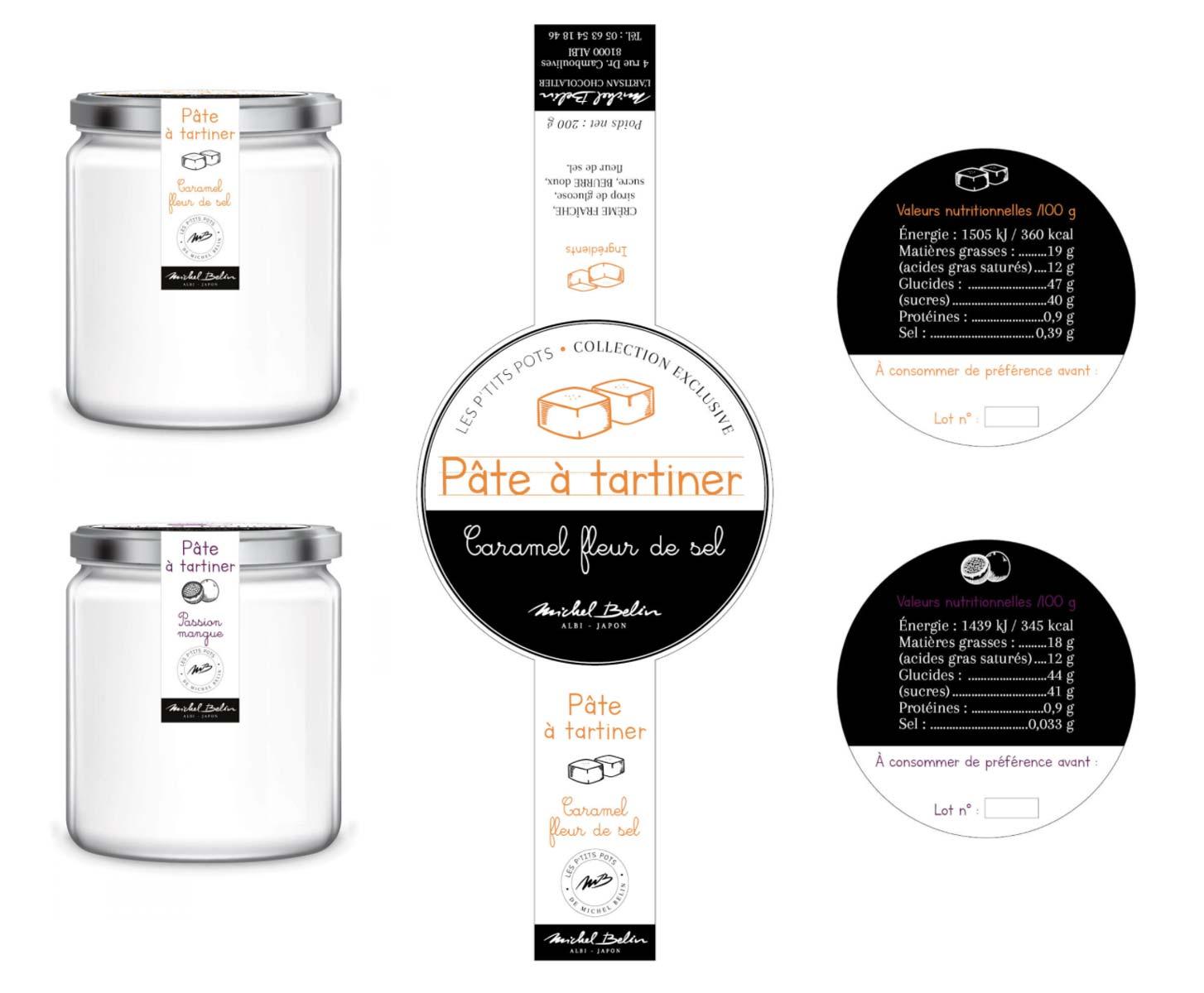 Design graphique étiquette pâte à tartiner