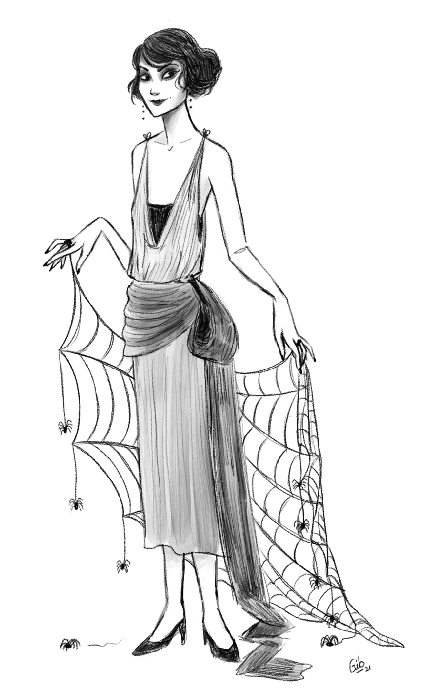Draw this in your style Ginny Robbins illustratrice toulouse dessin crayonné