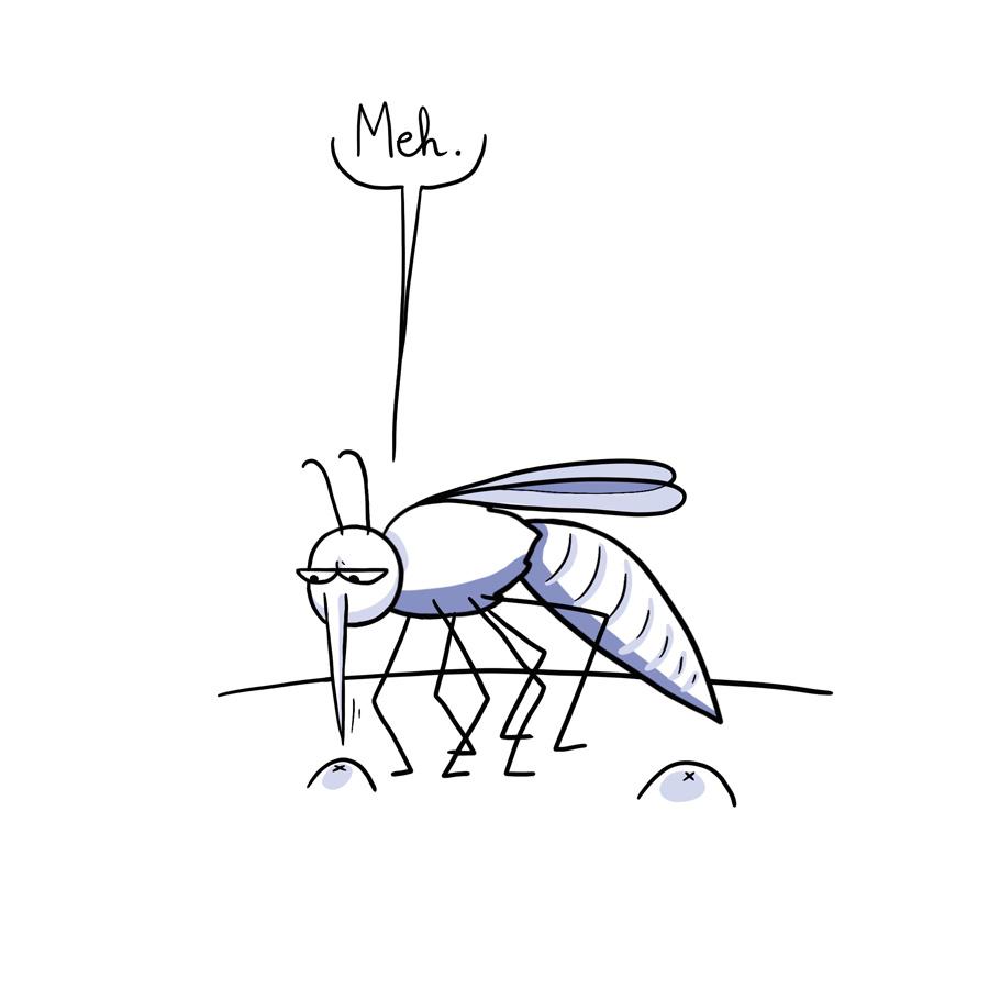 Le mauvais spot - bande dessinée BD humour moustiques piqures